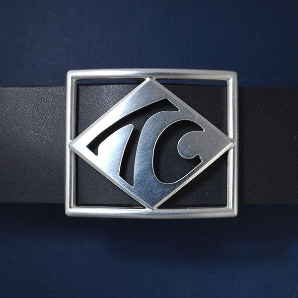 Gürtelschnalle mit Silber-Monogramm für 4 cm breiten Gürtel