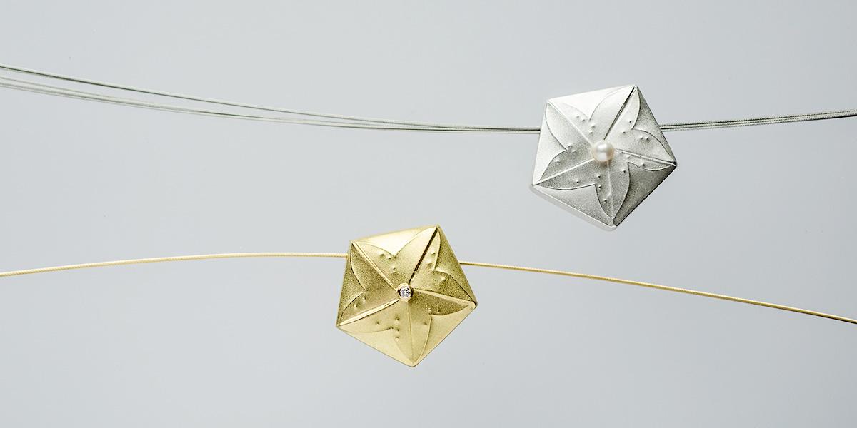 Seesternanhänger - 750/Gold oder Silber, Brillant oder Perle