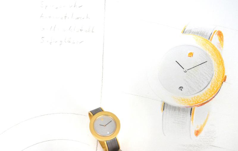 Handzeichnung Uhr Kairos
